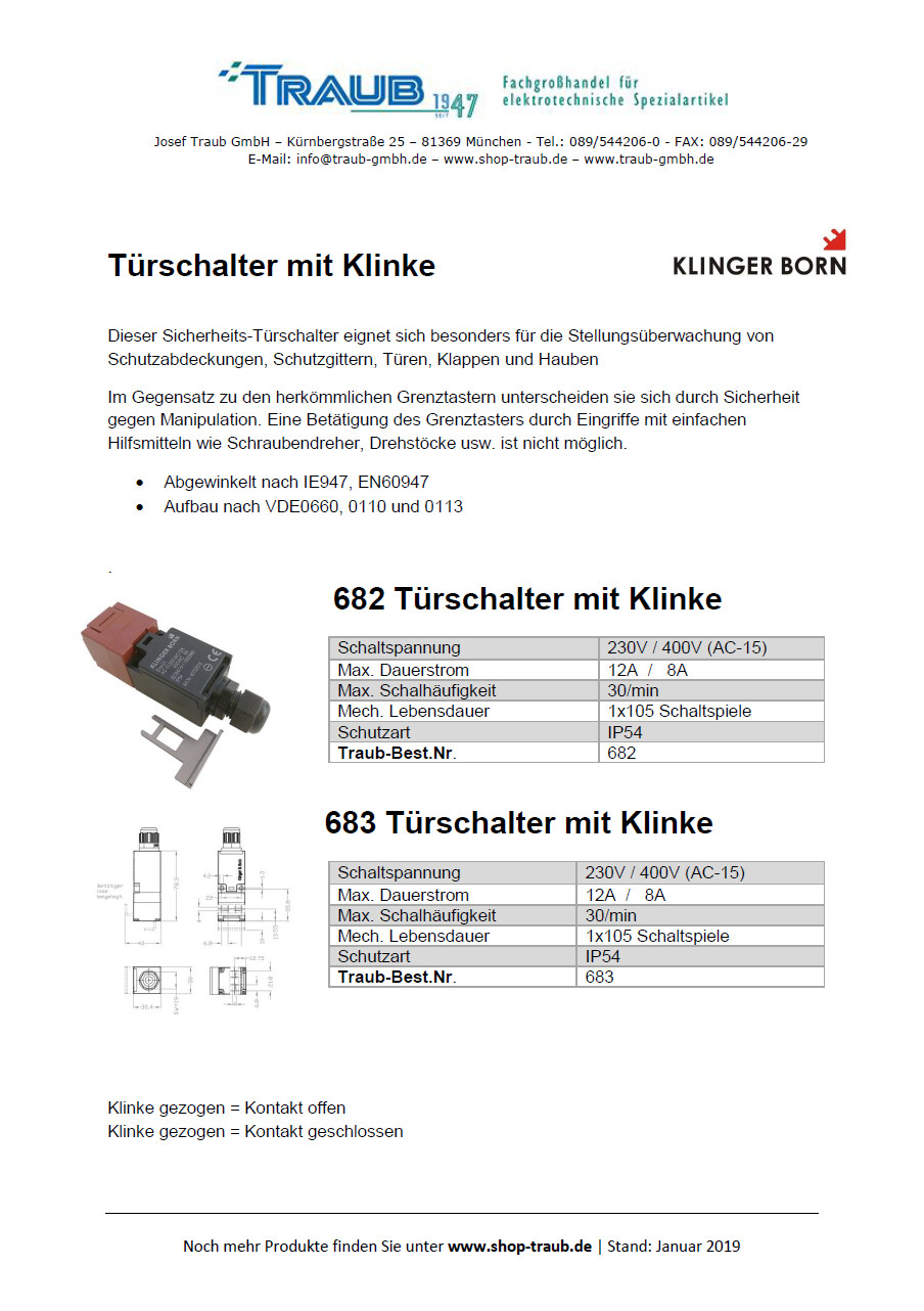 682-683-Türschalter Klinger & Born PDF Download